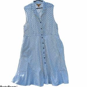 April Cornell floral cottagecore shirt dress